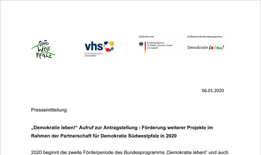 Aufruf zur Projekteinreichung 2020